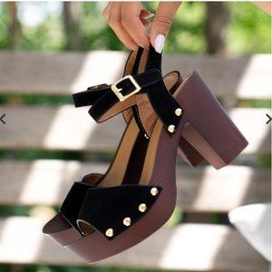 🆕 Qupid Black Ankle Strap Heel